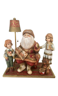 One of a kind Russian Santa with children scene