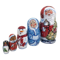 Santa matryoshka russian doll