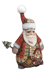 Unique russian Santa with nutcracker