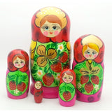 buyrussiangifts-store - Semenovo Red Matryoshka Doll Set - BuyRussianGifts Store - Nesting doll