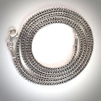 925 Silver Foxtail Square Fashion Chain
