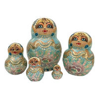 Small blue nesting dolls