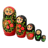 Russian nesting dolls black and red