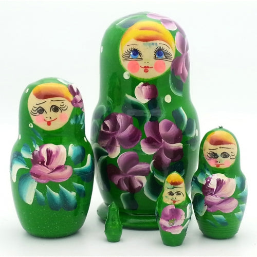 Small Green Nesting Doll
