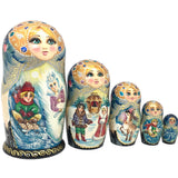 Snow queen Russian nesting dolls