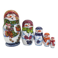Traditional Christmas Russian matryoshka