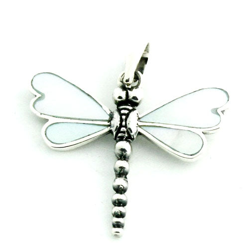 Mother of Pearl and Sterling Silver Dragonfly