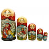 The Magic Swan Geese Nesting Doll Fairy Tale Set
