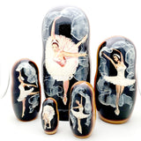 Swan Lake Ballet Solo Dancer Nesting Dolls Set