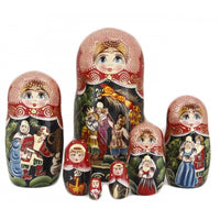 buyrussiangifts-store - Tale of Firebird 7 Piece Set - BuyRussianGifts Store - Nesting doll
