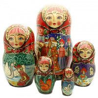 buyrussiangifts-store - Tale of Tsar Saltan 5 Piece Nesting Doll Set - BuyRussianGifts Store - Nesting doll