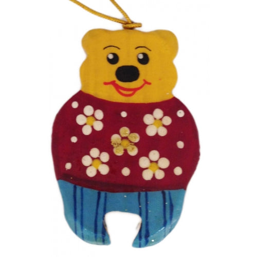 Teddy Bear Wooden Ornament