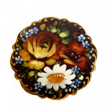 Three Flowers Russian Pin/Brooch