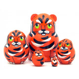 buyrussiangifts-store - Tiger Miniature Nesting Set - BuyRussianGifts Store - Nesting doll
