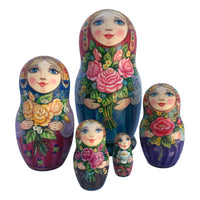 Russian stacking dolls roses