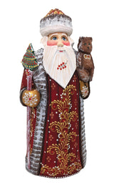 Traditional russian carved Santa figurine