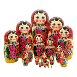 Authentic Russian nesting dolls large set