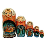 Christmas matryoshka dolls