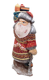 Wooden figurine Russian grandfather frost