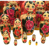 Traditional Russian dolls 20 piece large set