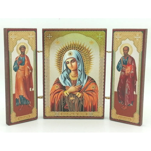 buyrussiangifts-store - Triptych Mother of God Tenderness - BuyRussianGifts Store - Souvenirs