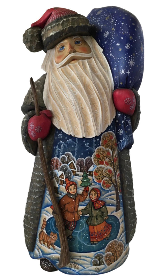 Santa Claus wooden figurine