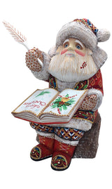 Santa hand carved wooden figurine