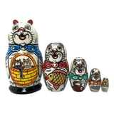 White cats kittens matryoshka
