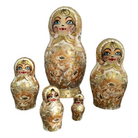 White gold nesting dolls
