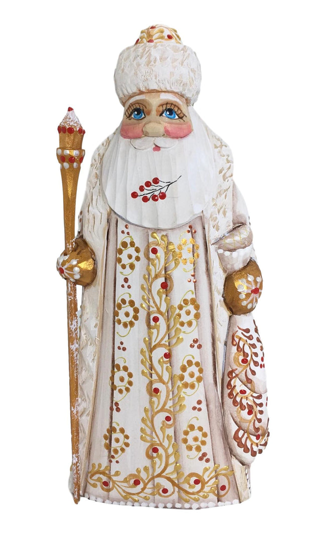 White Santa wood figure