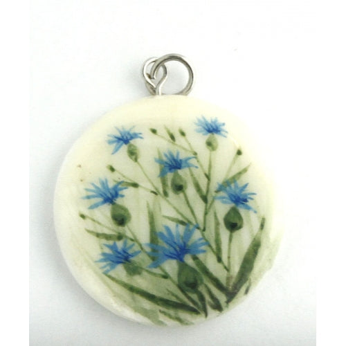 Wild Flowers Hand Painted Small Pendant