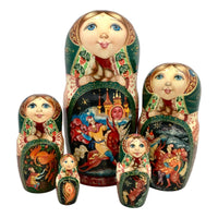 Russian nesting dolls Firebird fairytale