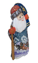 Wooden Russian santa figure