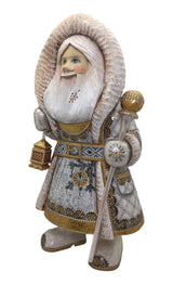 Hand carved wooden Santa Claus