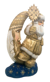 Wood crafted Santa Claus