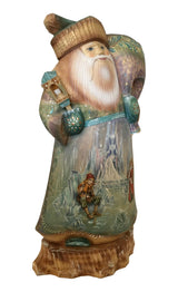 Carved wood Russian santa