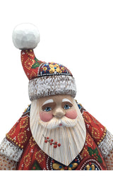 Russian Santa hand carved figurine
