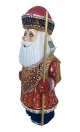 Wood carved figurine Santa
