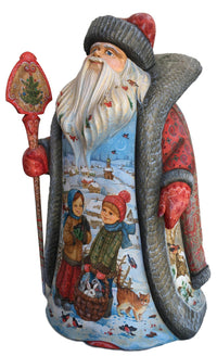 Wooden Ded Moroz Russian winter