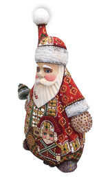 Wooden Russian santa with nutcracker