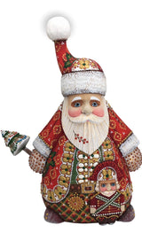 "Unique shape Santa with Nutcracker 13"" Tall"