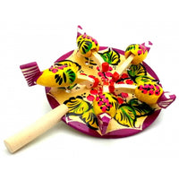 Yellow with Berry Chicken Paddle Toy