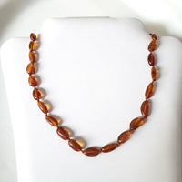 Natural Amber Free Shape Oval Beads Necklace for Men & Women