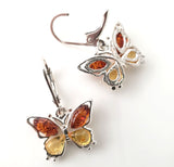 amber butterfly earring for teens