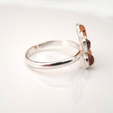 small amber butterfly ring