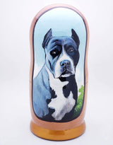 "American Pitbull Stacking Doll Blue Nose Pit Set 7""Tall"