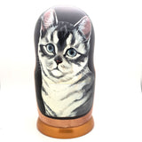 "Cat Nesting Matryoshka Doll 7"" Tall Set"