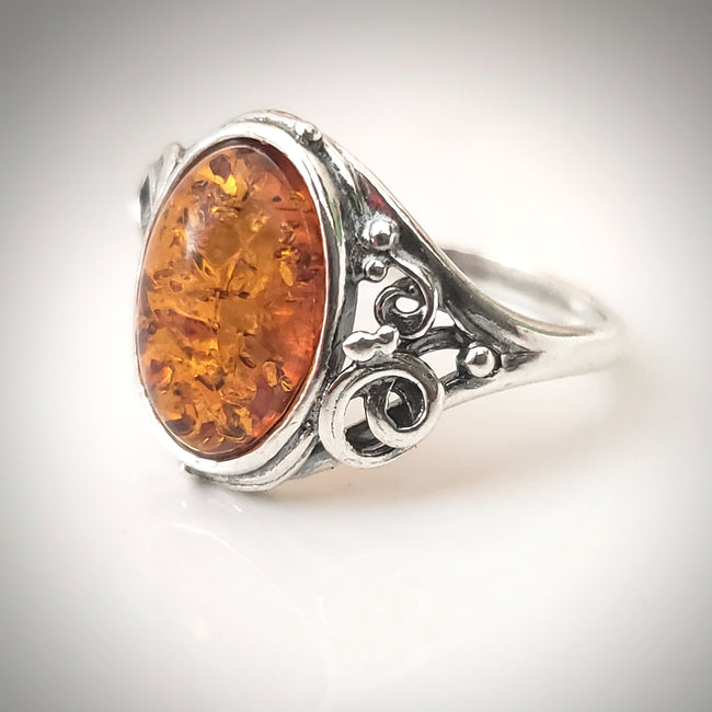 antique amber ring