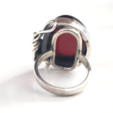 handmade sterling silver cherry amber ring
