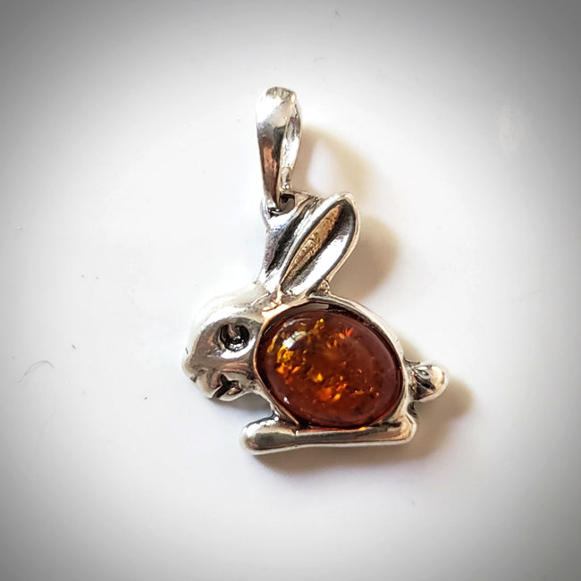 bunny rabbit sterling silver pendant